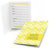 Chevron Yellow - Baby Shower Fill In Invitations - 8 ct