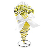 Yellow Chevron - Baby Shower Candy Bouquets with Frooties