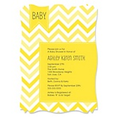 Yellow Chevron - Baby Shower Invitations