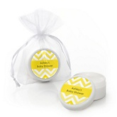 Yellow Chevron - Lip Balm Personalized Baby Shower Favors