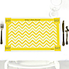 Chevron Yellow - Personalized Baby Shower Placemats