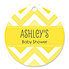 Chevron Yellow - Personalized Baby Shower Tags - 20 ct