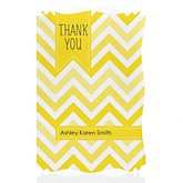 Yellow Chevron - Personalized Baby Shower Thank You Cards