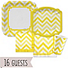 Chevron Yellow - Everyday Party 16 Big Dot Bundle