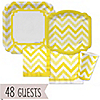 Chevron Yellow - Everyday Party 48 Big Dot Bundle