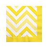 Chevron Yellow - Everyday Party Beverage Napkins - 16 ct