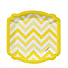 Chevron Yellow - Everyday Party Dessert Plates - 8 ct