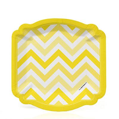 Chevron Yellow - Bridal Shower Dessert Plates - 8 ct...