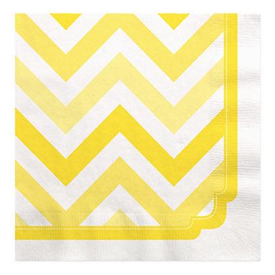 Chevron Yellow - Bridal Shower Luncheon Napkins - 16 ct...