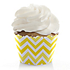Chevron Yellow - Everyday Party Cupcake Wrappers & Decorations