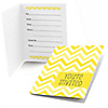 Chevron Yellow - Everyday Party Fill In Invitations - 8 ct
