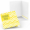 Chevron Yellow - Everyday Party Thank You Cards - 8 ct