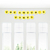 Chevron Yellow - Personalized Everyday Party Garland Letter Banner