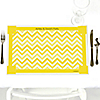 Chevron Yellow - Personalized Everyday Party Placemats
