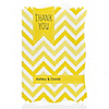 Chevron Yellow - Personalized Everyday Party Thank You Cards