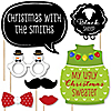Christmas Family Reunion – Fun Family Theme Holiday Party Photo Booth Props Kit – 20 Count