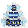 Construction Truck - Personalized Baby Shower Square Diaper Cakes - 3 Tier