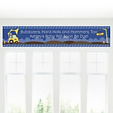 Construction Truck - Personalized Baby Shower Banner