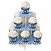 Construction Truck - Baby Shower Cupcake Stand and 13 Cupcake Wrappers