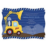 Construction Truck - Boy Baby Shower Invitations