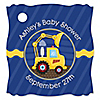Construction Truck - Personalized Baby Shower Tags - 20 ct