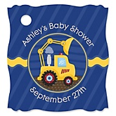 Construction Truck - Personalized Baby Shower Tags - 20 Count