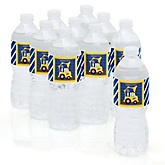 Construction Truck - Personalized Party Water Bottle Sticker Labels - Set of 10