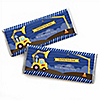 Construction Truck - Personalized Birthday Party Candy Bar Wrapper Favors