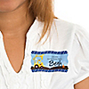 Construction Truck - Personalized Birthday Party Name Tag Stickers - 8 ct