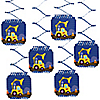 Construction Truck - Birthday Party Hanging Decorations - 6 ct