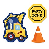 Construction Truck - Shaped Baby Shower Paper Cut-Outs - 24 ct