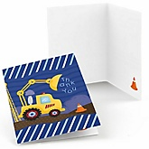 Construction Truck -  Baby Shower Thank You Cards - Set of 8