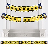 Construction Truck - Personalized Baby Shower Bunting Banner