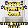 Construction Truck - Personalized Birthday Party Bunting Banner