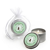 Silhouette Couples Baby Shower - It's A Baby - Candle Tin Personalized Baby Shower Favors
