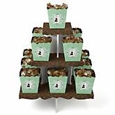 Silhouette Couples Baby Shower - It's A Baby - Baby Shower Candy Stand & 13 Fill Your Own Candy Boxes