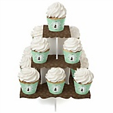Silhouette Couples Baby Shower - It's A Baby - Baby Shower Cupcake Stand & 13 Cupcake Wrappers