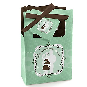 Silhouette Couples Baby Shower - It's A Baby  - Personalized Baby Shower Favor Boxes