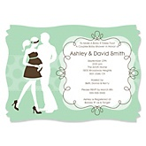 Silhouette Couples Baby Shower - It's A Baby - Baby Shower Invitations