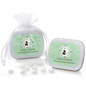 Silhouette Couples Baby Shower - It's A Baby - Mint Tin Personalized Baby Shower Favors