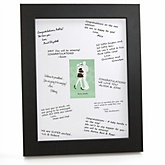 Silhouette Couples Baby Shower - It's A Baby - Personalized Baby Shower Print with Signature Mat