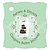 Silhouette Couples Baby Shower - It's A Baby - Personalized Baby Shower Tags - 20 ct
