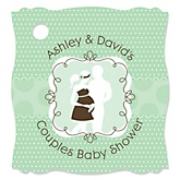 Silhouette Couples Baby Shower - It's A Baby - Personalized Baby Shower Tags - 20 Count