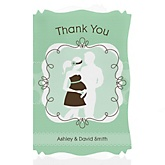 Silhouette Couples Baby Shower - It's A Baby - Personalized Baby Shower Thank You Cards