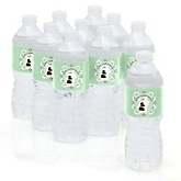 Silhouette Couples Baby Shower - It's A Baby - Personalized Baby Shower Water Bottle Labels