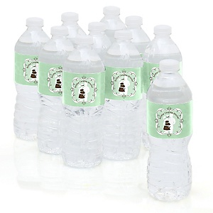 Silhouette Couples Baby Shower - It's A Baby - Baby Shower Personalized Water Bottle Sticker Labels - 10 Count