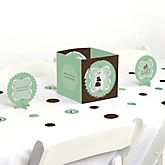 Silhouette Couples Baby Shower - It's A Baby - Baby Shower Table Decorating Kit