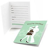 Silhouette Couples Baby Shower - It's A Baby - Fill In Baby Shower Invitations - Set of  8