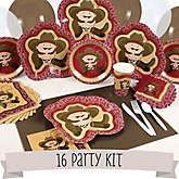 Little Cowboy - Western 16 Person Baby Shower Kit