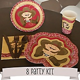 Little Cowboy - Western 8 Person Baby Shower Kit